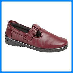 Mod Comfys Damen Mary-Jane-Schuhe / Schuhe, Leder (41 EUR) (Burgunder) - Espadrilles für frauen (*Partner-Link)
