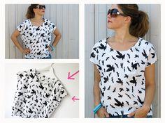 Kleider & Schürzen - FrauMIA ♥ lockere Bluse mit Raglanarm - ein Designerstück von fritzi-selbermacher bei DaWanda