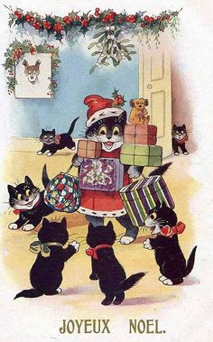 Joyeux Noel, Christmas Cats by hagerstenguy