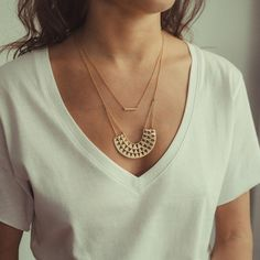 Our GoddessNecklace is a favourite statement piece! Showing tribal inspiration, the goddess piece is finished in signature Linda Tahija texturing, and crafted
