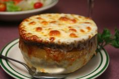 Le Cafe Ile St. Louis Onion Soup Gratinee – this is a new take on the classic French Onion Soup.