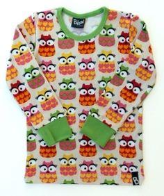 Blaa Miss Owl pitkähihainen paita, 104 cm.