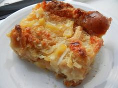 Pineapple Coconut Bread Pudding by Deals to Meals