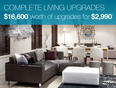 Complete living upgrades $16,600 worth of upgrades for $2990. http://burbank.com.au/queensland/promo/LuxuryUpgrades/
