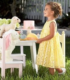 I want my daughter to be obsessed with tea parties and her stuffed animal lamb :)