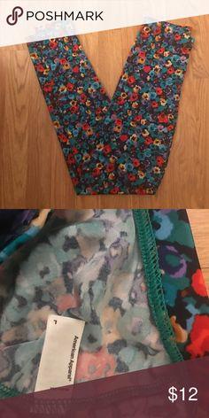 American Apparel Floral Nylon Tricot Leggings Never Worn American Apparel Leggings American Apparel Pants Leggings