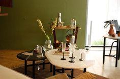 Colección THE BAR: mesas en mármol+base de aluminio, por Ad Hoc. #compradiseñomexicano en GMD #Anatole13.