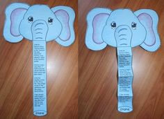 Writing activities: Horton Hears a Who activities. Also comes with a clover pattern for Horton to hold with his trunk. Could work for any elephant writing prompt too. Elephant Game, Elephant Crafts, Elephant Party, Cute Elephant, Elephant Trunk, 5 Senses Activities, Color Activities, Literacy Activities, Activities For Kids