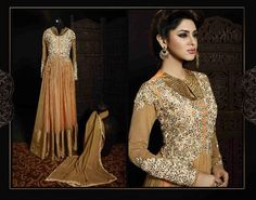 Gorgeously mesmerizing is what you will look at the next social function by wearing stylish suit sets. This attractive suit set is the flavor of the season and will give you a sassy look. Reflect the charm of high-end fashion by clubbing this suit set with high heels and a sleek pendant set.