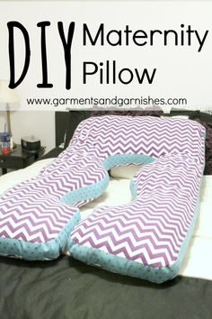 DIY Maternity Pillow - Crafty mamas, get the comfort you need with the fabric and patterns you want!
