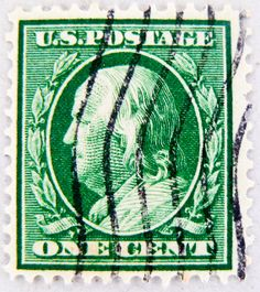 vintage stamp USA 1c portrait Benjamin Franklin green United States of America почтовая марка США pullar ABD 邮票 美国 Měiguó USA timbre États-Unis u.s. postage selo Estados Unidos sello USA 1c green francobolli USA Stati Uniti d'America Briefmarken by stampolina, via Flickr