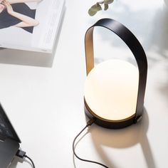 The Carrie LED Lamp designed by Norm Architects is a small, practice and rechargeable lamp which will fit in any décor.