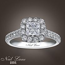 Neil Lane princess cut -- I've tried this on & lets just say it looks absolutely perfect on my finger <3