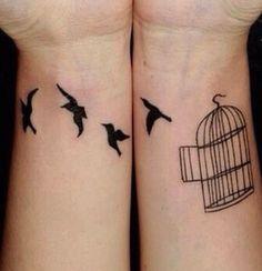 free bird temp tattoo