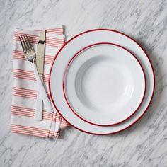 West Elm | Enamelware Dinnerware, Red