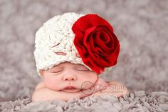 How sweet!   Hey, I found this really awesome Etsy listing at http://www.etsy.com/listing/113377677/baby-girl-hat-newborn-photo-prop-flower