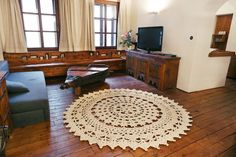 Crochet Carpet, Carpet Design, Art Pieces, Kids Rugs, Flooring, Living Room, Handmade, Home Decor, Crochet Rugs
