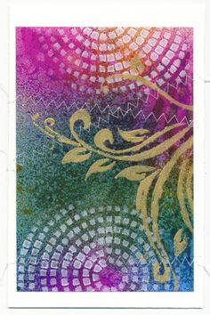 card made with dylusions