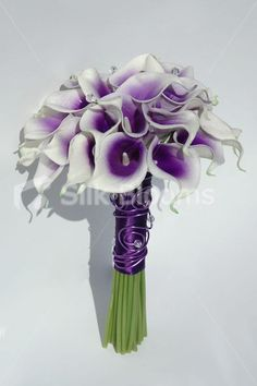 Vibrant Bridal Bouquet with Purple Centred White Picasso Lilies @Tanya Scicluna