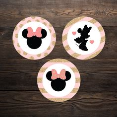 """"""" The perfect theme for any little girl who loves her some Minnie Mouse! Minnie Mouse Cupcake Toppers, Minnie Mouse Party, Mouse Parties, Cupcake Wrappers, Party In A Box, Party Printables, Little Girls, Invitations, Birthday"""