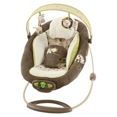 InGenuity Automatic Bouncer in Coco Café Fashion......THIS IS ADORABLE.. IDEA FOR BABY SHOWER..:}
