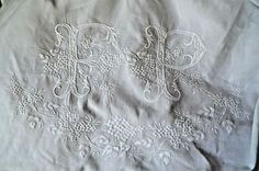 a63ae071e49a7 1537 Best Antique monogrammed linens images in 2019 | Monogram ...