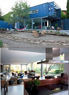 shipping container houses   Stylish Two-Story Shipping Container House is Perfect for Earth Day ...