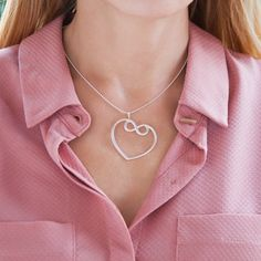 Heart with infinity necklace is a trendy XXL jewelry – pure symbol of endless love and care. Available in silver and gold-plated. #lilou #heart #infinity #necklace #xxl #silver #gold-plated #carnival #ball