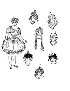 Vintage Kids Printable - Christmas Paper Doll - The Graphics Fairy