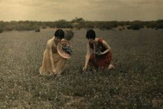 Women in Larado, Texas, by Clifton R. Adams for National Geographic, 1920s (back when it was okay to pick bluebonnets, I guess!)