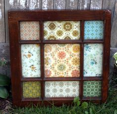 Vintage Wallpaper Window Craft Tutorial.  I have the window but I think I'll use photos and/or scraps of vintage fabric.
