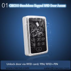 RFID 125KHZ Card Reader  standalone Door Lock access control system with keypad Support 1000 card users /PIN /PIN+RFID card