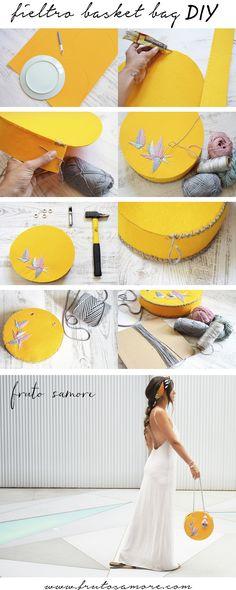 basket bag diy / bolso fieltro redondo hecho a mano