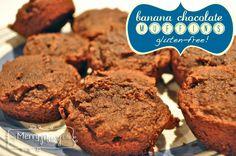 Coconut Flour Banana Chocolate Muffins - Gluten-Free!