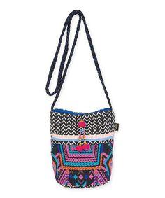 Blue & Purple Geometric Crossbody Bag #zulily #zulilyfinds
