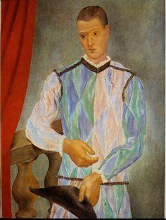 Picasso L'arlequin de Barcelone. 1917. 116 x 90 cm.
