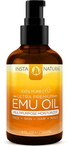 100% Pure Emu Oil - For Hair Growth, Skin, Face, Stretch Marks, Scars & More - Great for After You Shampoo! - The Best Natural Cream for Eczema, Muscle & Joint Pain & Nail Beauty - InstaNatural - 4 OZ * MORE DETAILS @ http://www.castoroil.com.my/oil/10013/?868