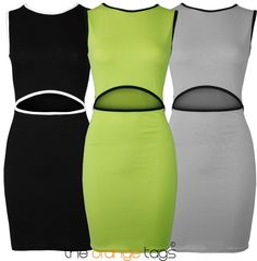 NEW SEXY CUT OUT LADIES BODYCON STRETCH WOMENS PARTY DRESS EVENING CLUB WEAR in Clothes, Shoes & Accessories, Women's Clothing, Dresses   eBay