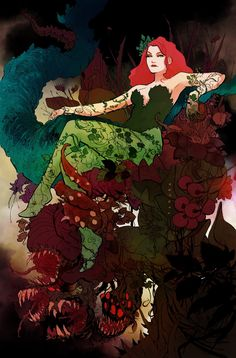 Poison Ivy Cartoon, Poison Ivy Comic, Dc Poison Ivy, Poison Ivy Dc Comics, Poison Ivy Batman, Gotham City, Fairy Tail Fotos, Fairy Tail Pictures, Poison Ivy