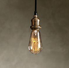 Bare Bulb Filament Pendant $75