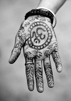 Hinduism Symbol On A Hand, Maha Kumbh Mela, Allahabad, India | Flickr - Photo Sharing!