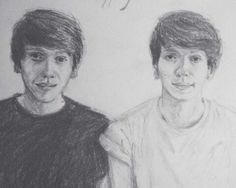 Drawing of Marco and Alessio