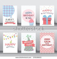 birthday, greeting and invitation card.  there are balloons, gift boxes, confetti, cup cake. vector illustration