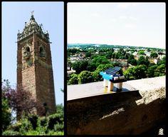 En haut de la tour de Bristol, Angleterre.