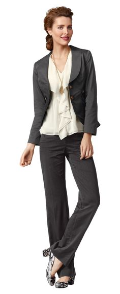 Work-It Jacket and Trouser with Whisper Blouse - Love the shirt!