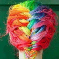 Colorfullllllll braid! Love it!