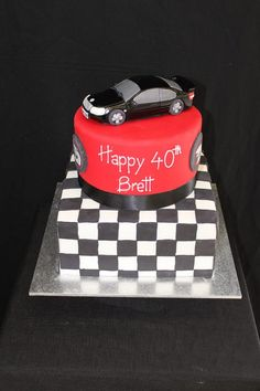Holden racing cake with hand modelled car