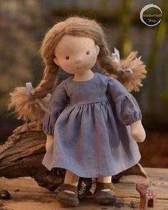 Skye, Waldorf Doll by Waldorfdollshop Doll Patterns, Sewing Patterns, Stuffed Dolls, Teddy Toys, Waldorf Dolls, Sewing Toys, Sewing Tutorials, Flower Girl Dresses, Faces