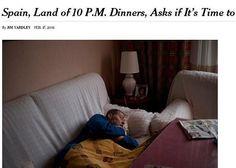 España, vista por «The New York Times»: «El país donde se cena a las 22.00 horas»