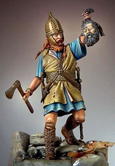 Amazon.com: Pegaso Models 54mm Celtic Warrior La Tene Period White Metal Figure…
